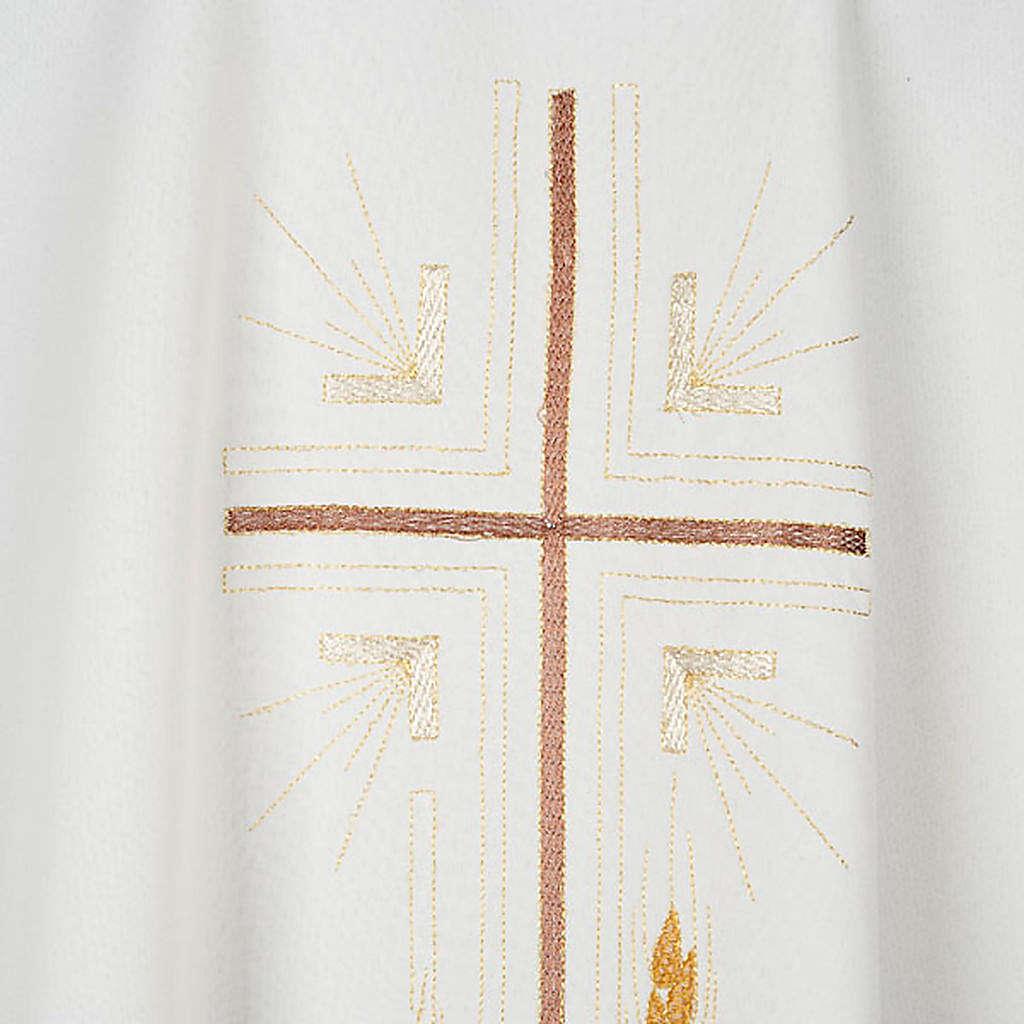 Kasel aus Polyester mit Goldkreuz Ähren 4