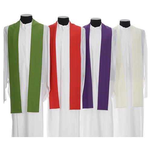 Casula mariana sacerdotale poliestere ricamo blu oro 8