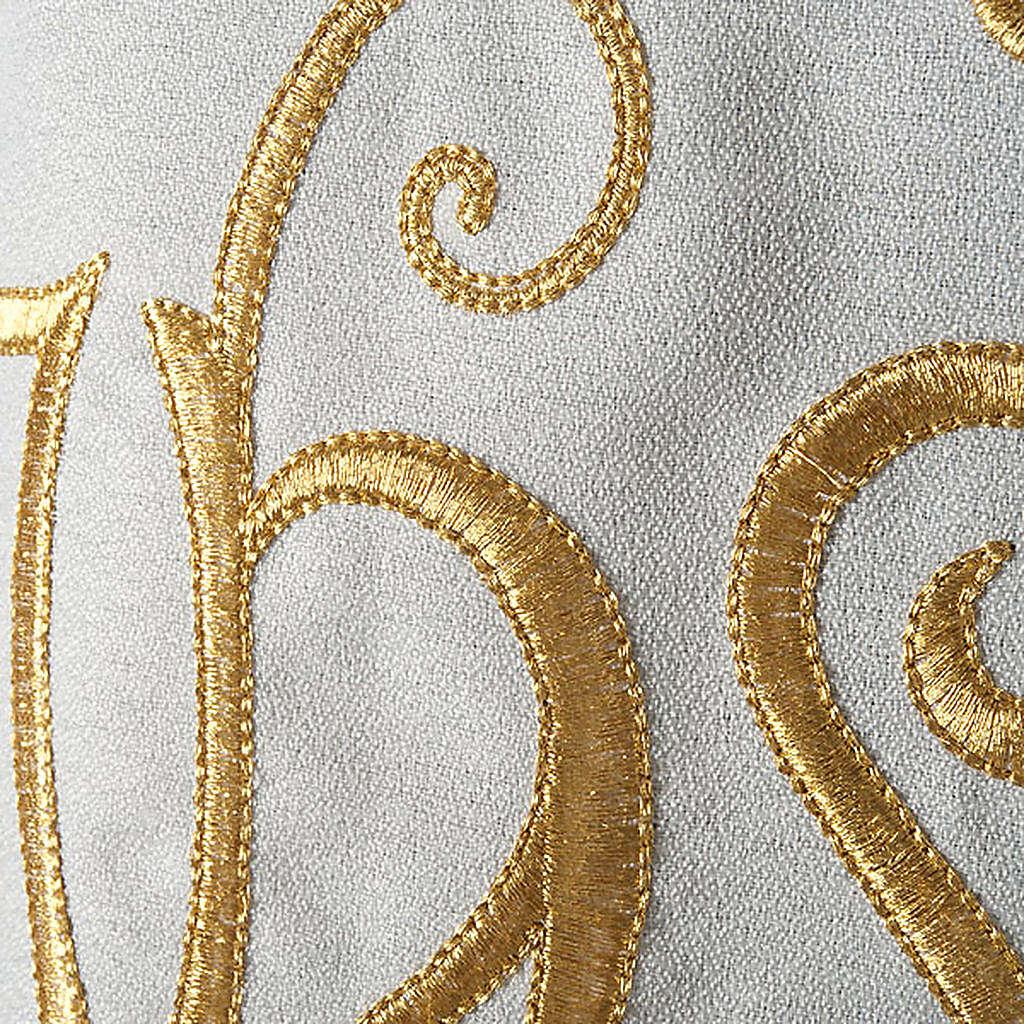 Chasuble liturgique IHS doré polyester 4