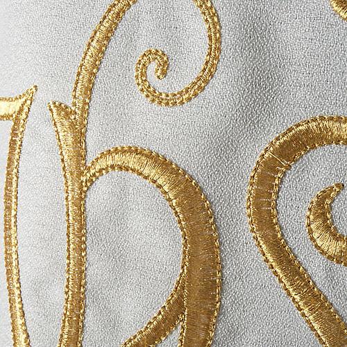 Chasuble liturgique IHS doré polyester 3