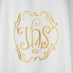 Casula sacerdotale IHS oro poliestere s2
