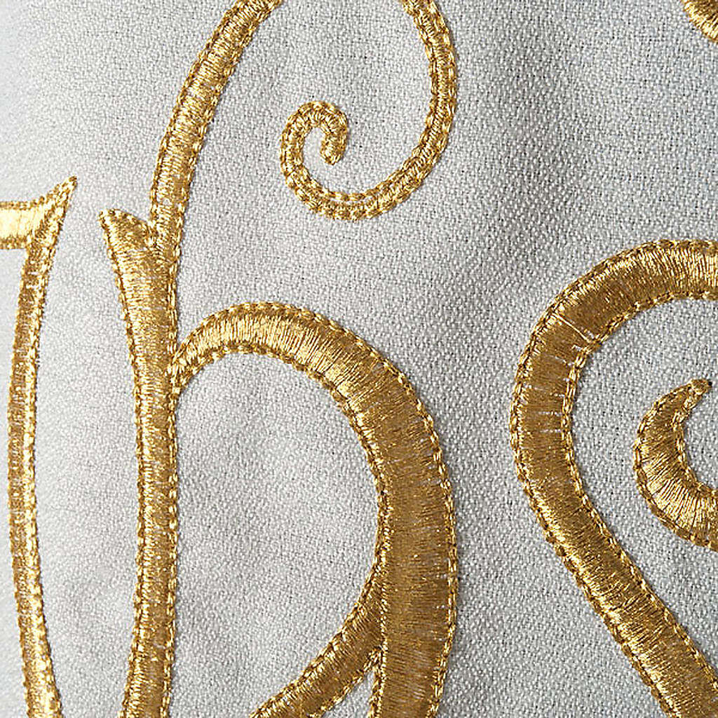 Liturgical vestment in polyester with IHS symbol 4