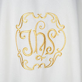 Liturgical vestment in polyester with IHS symbol s2