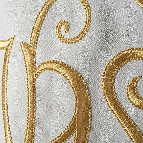 Liturgical vestment in polyester with IHS symbol s3