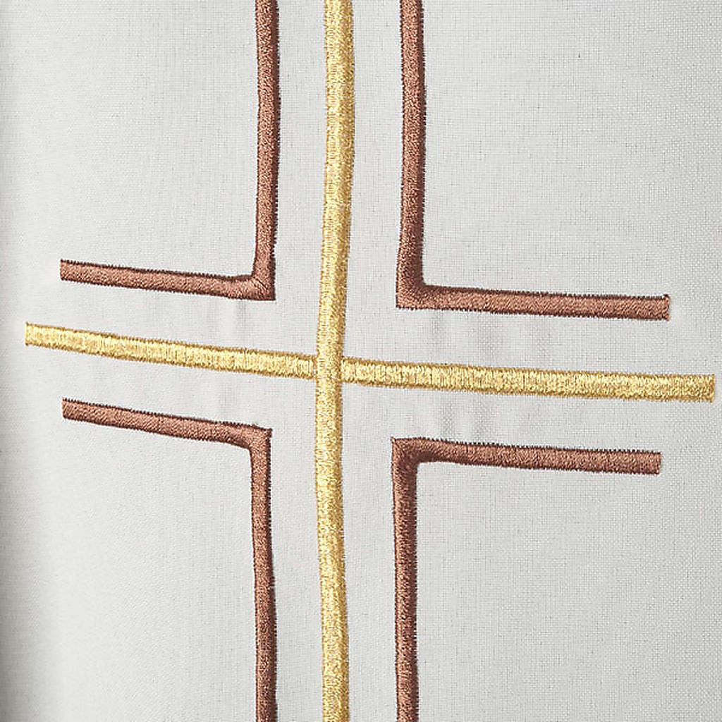 Chasuble liturgique croix double raisins 4