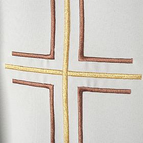 Chasuble liturgique croix double raisins s2