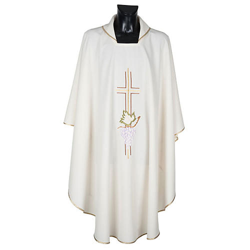 Chasuble liturgique croix double raisins 1