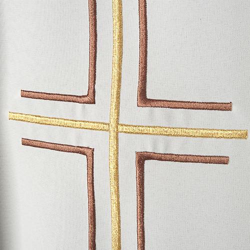 Chasuble liturgique croix double raisins 2