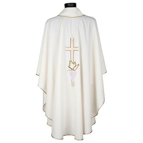 Chasuble liturgique croix double raisins 3