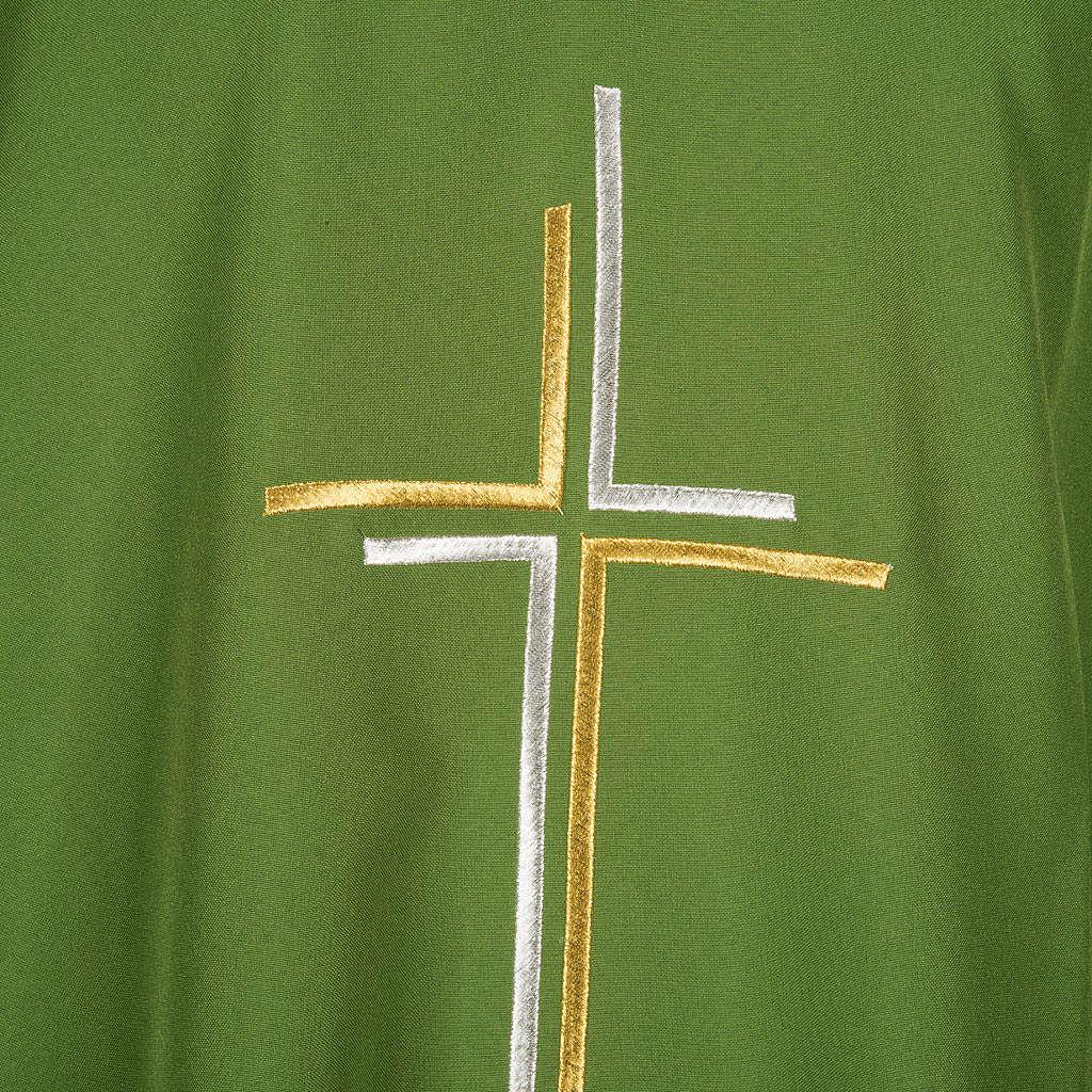 Chasuble liturgique croix double polyester 4