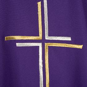 Chasuble liturgique croix double polyester s2