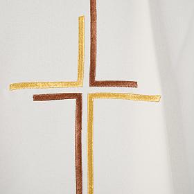 Chasuble liturgique croix double polyester s10