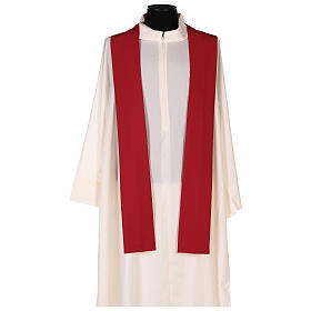 Chasuble liturgique croix double polyester s5