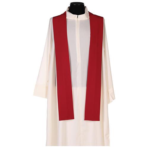 Chasuble liturgique croix double polyester 5