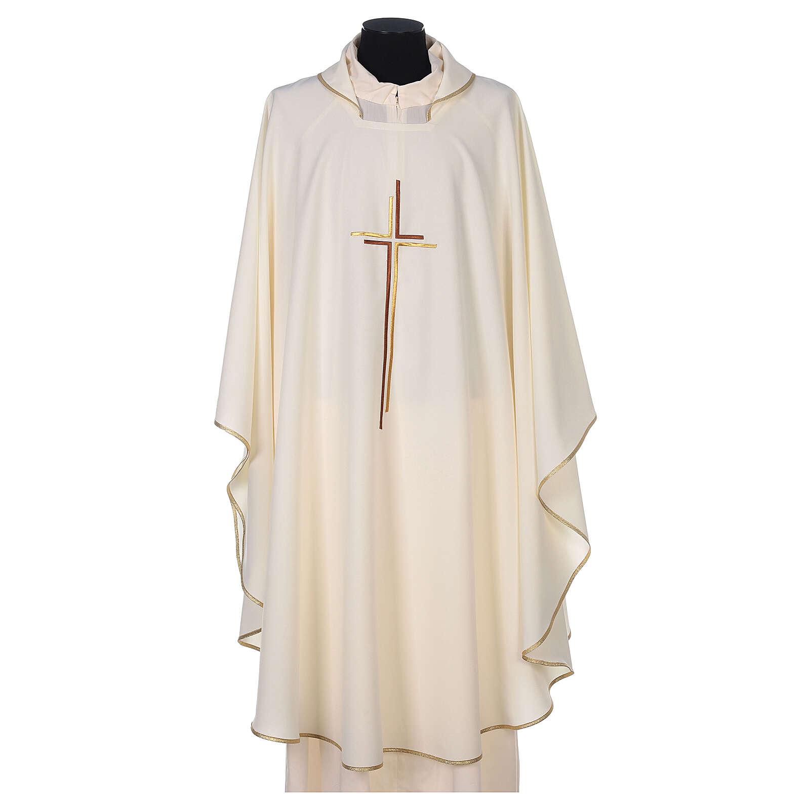 Casula sacerdotale croce doppia stilizzata poliestere 4