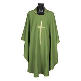 Casula sacerdotale croce doppia stilizzata poliestere s4