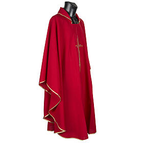 Casula sacerdotale croce doppia stilizzata poliestere s8