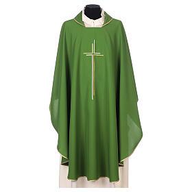 Casula sacerdotale croce doppia stilizzata poliestere s3