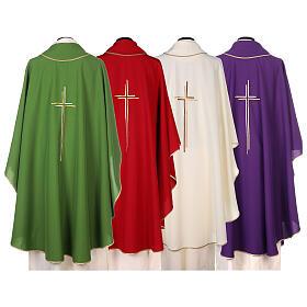 Casula sacerdotale croce doppia stilizzata poliestere s7