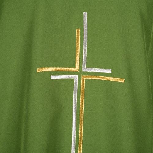 Casula sacerdotale croce doppia stilizzata poliestere 5