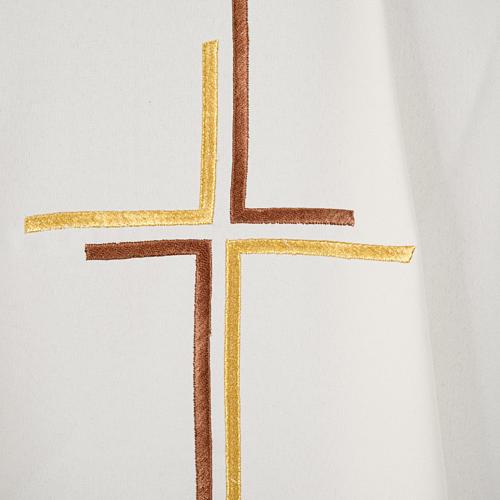 Casula sacerdotale croce doppia stilizzata poliestere 10