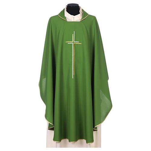 Casula sacerdotale croce doppia stilizzata poliestere 3