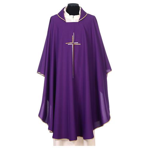 Casula sacerdotale croce doppia stilizzata poliestere 6