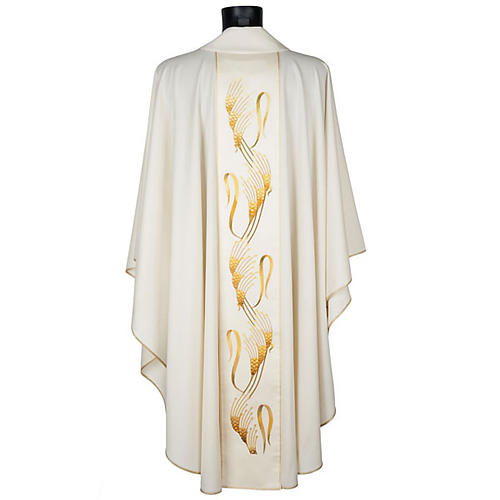 Chasuble and stole, ears of wheat embroidered orphrey 3