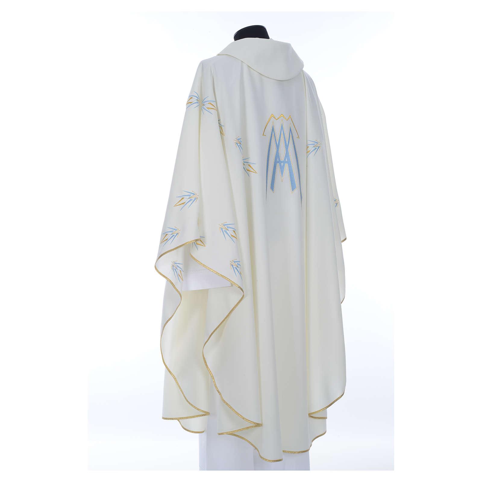 Chasuble avec symbole mariale en polyester 4