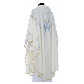 Chasuble avec symbole mariale en polyester s7