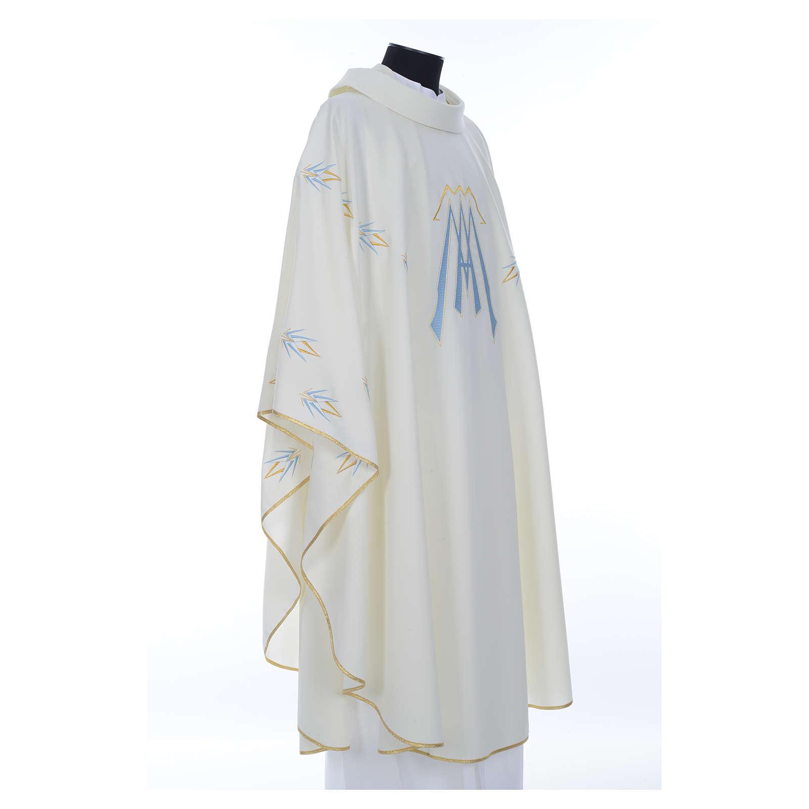 Casula ricamata simbolo mariano poliestere 4
