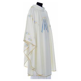 Casula ricamata simbolo mariano poliestere s8