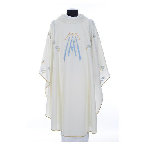 Casula ricamata simbolo mariano poliestere 1