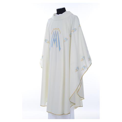 Casula ricamata simbolo mariano poliestere 2