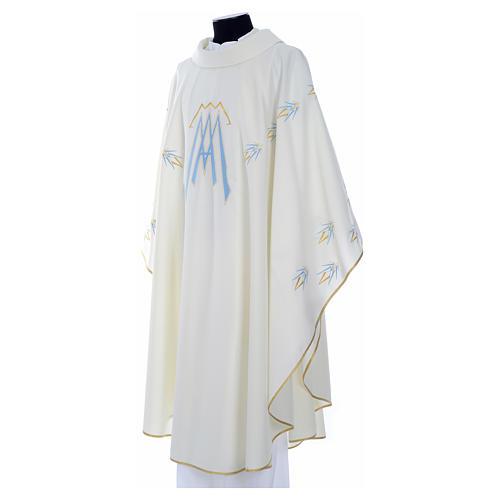 Casula ricamata simbolo mariano poliestere 6