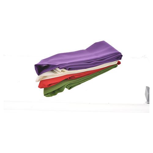 Chasuble Chi-Rho raisin et épis stylisés 100% polyester 8