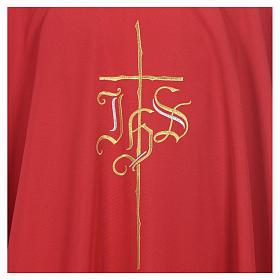 Casula poliéster IHS cruz estilizada 4 cores s5