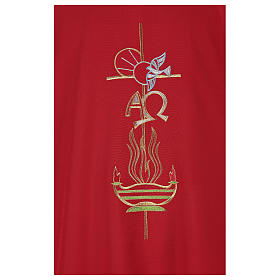 Chasuble in polyester with Cross & Flames s2