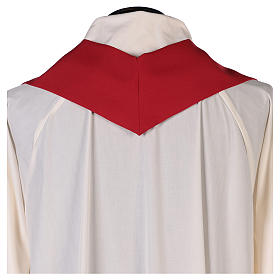 Chasuble in polyester with Cross & Flames s6