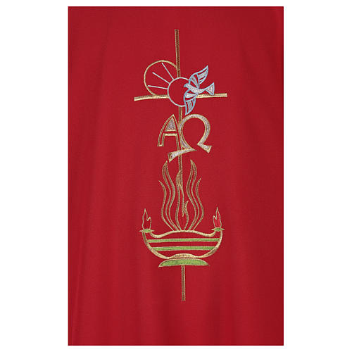 Chasuble in polyester with Cross & Flames 2