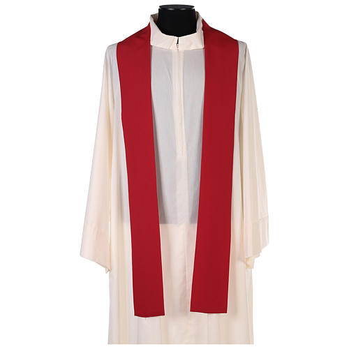 Chasuble in polyester with Cross & Flames 5