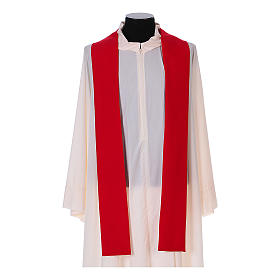 Franciscan chasuble in polyester with Jesus and St.Francis hands s12