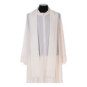 Franciscan chasuble in polyester with Jesus and St.Francis hands s13