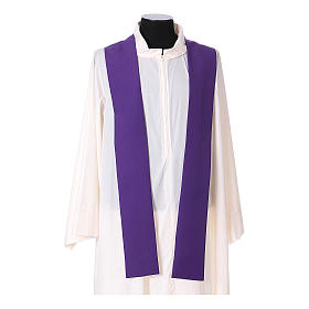 Franciscan chasuble in polyester with Jesus and St.Francis hands s14