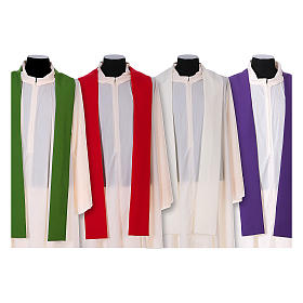 Franciscan chasuble in polyester with Jesus and St.Francis hands s15