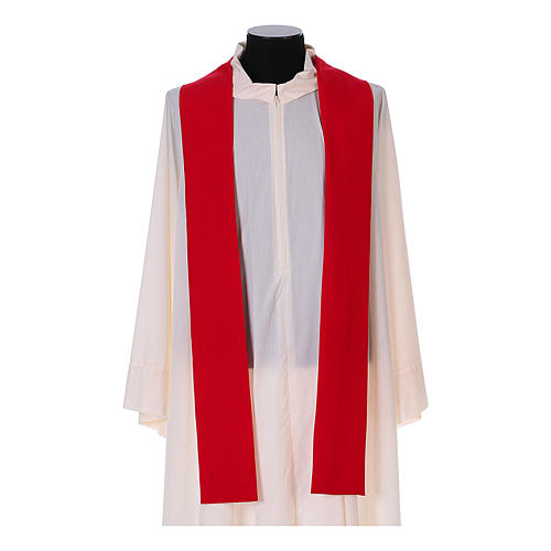 Franciscan chasuble in polyester with Jesus and St.Francis hands 12