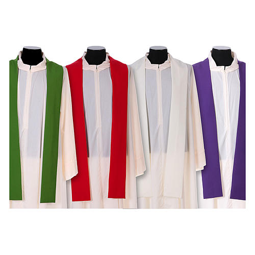 Franciscan chasuble in polyester with Jesus and St.Francis hands 15