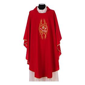Casulla Franciscana 100% pol. manos de Francisco y Jesús s4