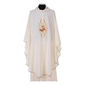 Casulla Franciscana 100% pol. manos de Francisco y Jesús s5