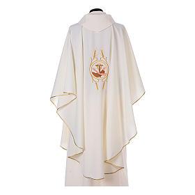 Casulla Franciscana 100% pol. manos de Francisco y Jesús s9